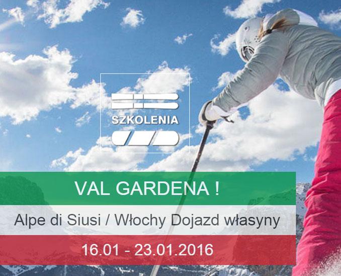 Włoch Narty Val Gardena szkolenie