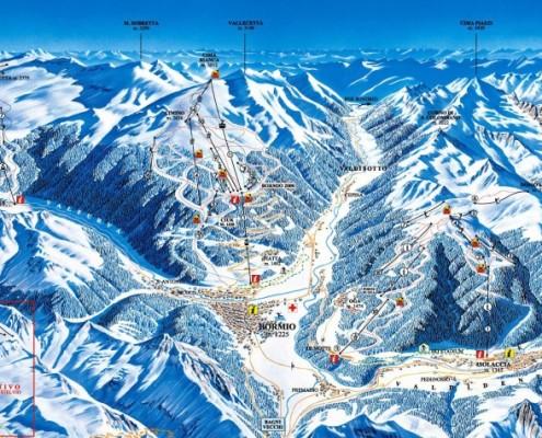 Mapa narciarska Bormio Alta Valtellina