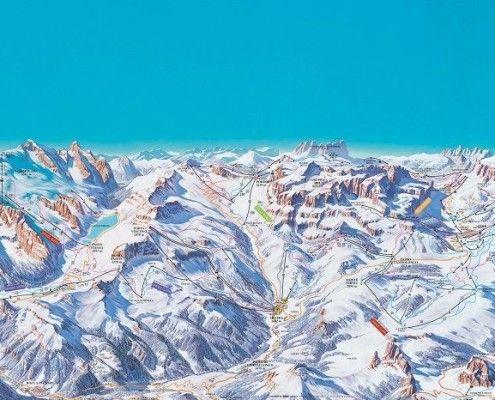 Mapa narciarska Arraba Marmolada