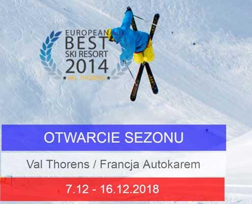 Narty Francja trzy doliny Val Thorens 2018